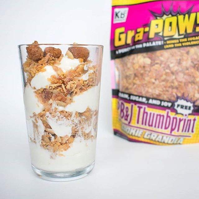 We're halfway to the weekend and could certainly use a delicious energy boost! That's why we're snacking on some PB&J Thumbprint cookie granola made by our friends @ketobakingco. Their Gra-POW is super yummy while also being grain, sugar and soy free 🤩. #madeintastelab #madeindc #keto #wednesdaymotivation 📸 by @ketobakingco