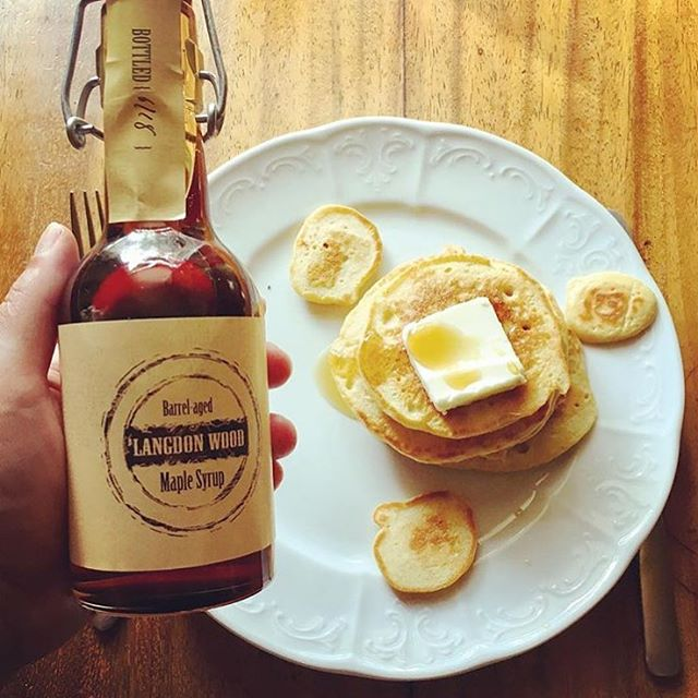 Yesterday we celebrated #nationalmaplesyrupday with @langdonwood maple syrup. What a perfect gift for the holidays! #madeindc #madeintastelab  ____________________________ #tistheseason #maplesyrup #yum #pancakes #breakfastofchampions #dceats #giftideas #moresyrupplease