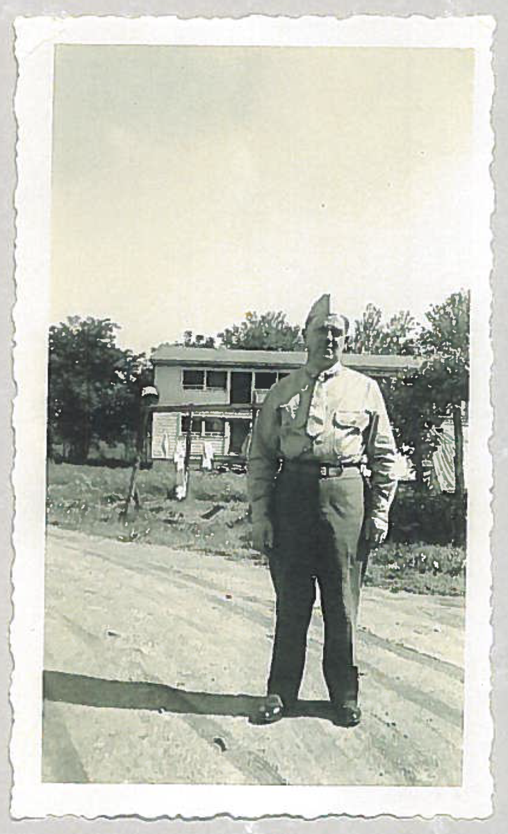 Izzy Friedman in his Army uniform.
