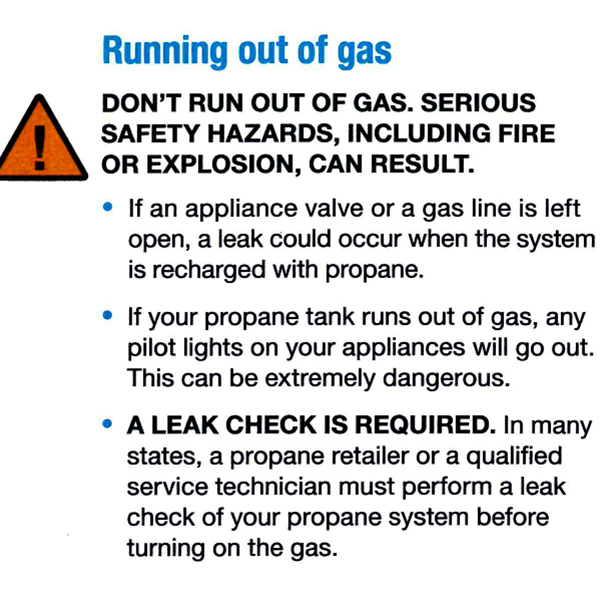 Important Note: - If you are using your gas fire logs and/or backup generator more frequently in the winter PLEASE LET US KNOW IN ADVANCE so that we can prepare accordingly as you may run out sooner than expected.