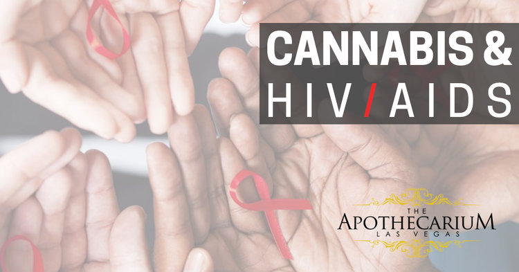 the apothecarium las vegas a recreational and medical cannabis dispensary discusses cannabis in treating the symptoms of HIV/AIDS