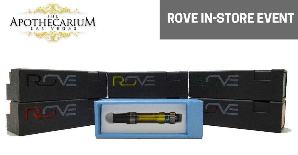 Rove Vape Pens and marijuana supplies at an in-store event at The Apothecarium.