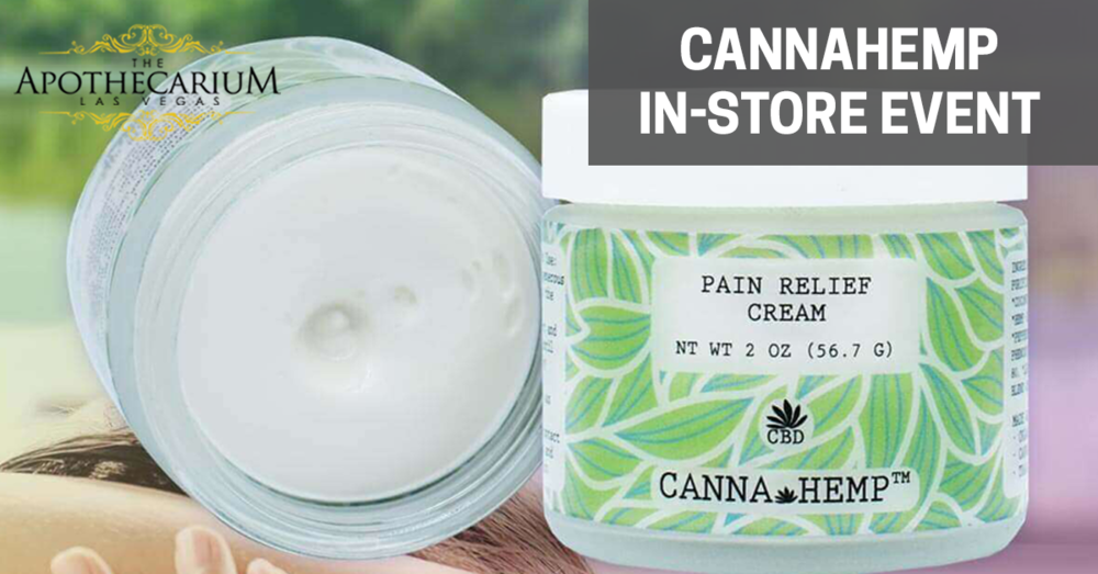 Cannahemp pain relief lotion now available at The Apothecarium in Las Vegas, NV.