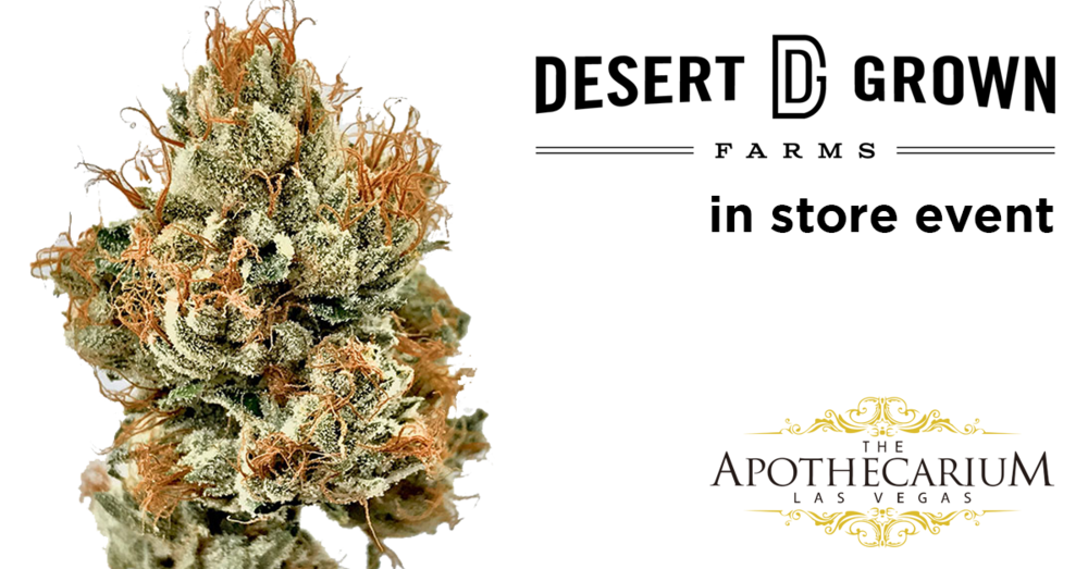 the apothecarium las vegas a medical and recreational cannabis dispensary discuss their in store event with desert grown farms or dgf
