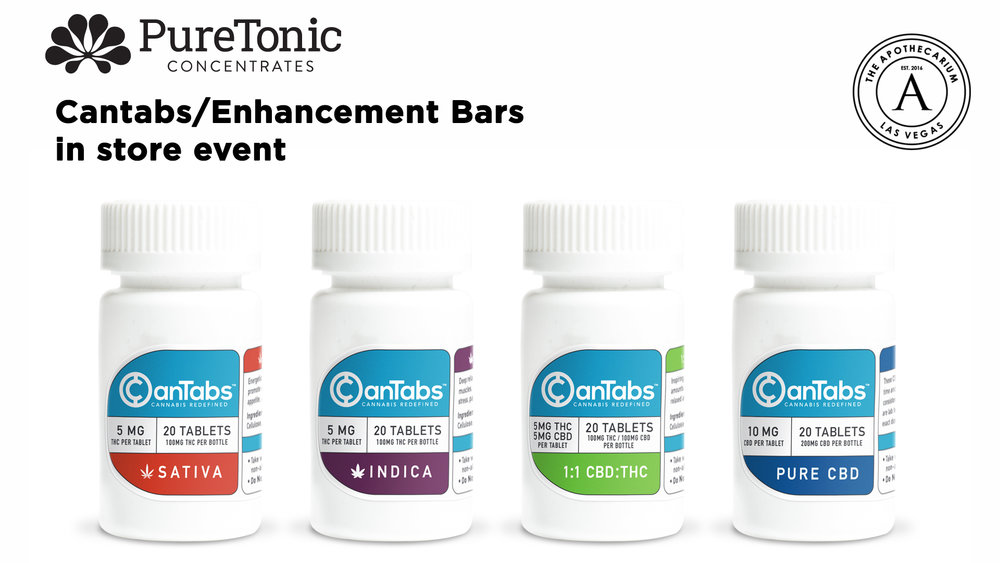 the apothecarium a recreational and medical cannabis dispensary discusses their in store event with puretonic cantabs and enhacement bars