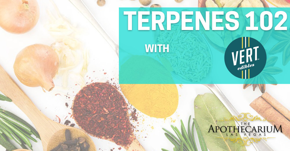 the apothecarium a recreational and medical marijuana dispensary discuss their event with vert for a class on terpenes