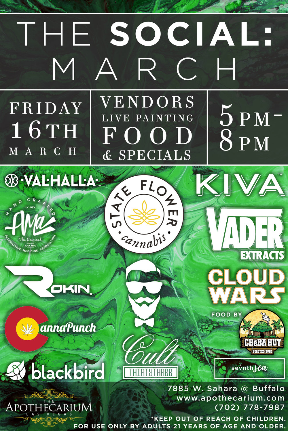 the apothecarium las vegas a medical and recreational cannabis dispensary discuss their new event the social for the month of march