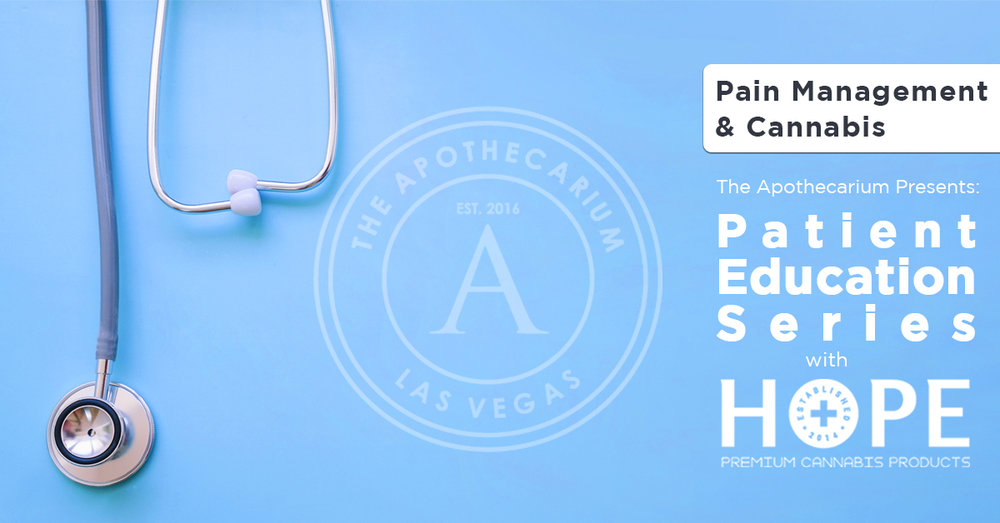 the apothecarium las vegas a medical and recreational cannabis dispensary discuss their patient education series with hope nevada on pain management and cannabis