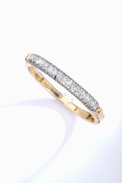 647d31fcd47 Antique Diamond Bangle. Iskenderian Bracelet ...