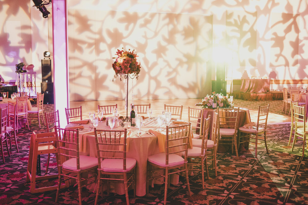 Romantic uplighting or the dance floor!