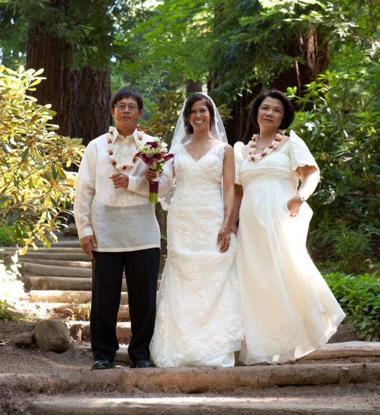The beautiful bride and her proud parents