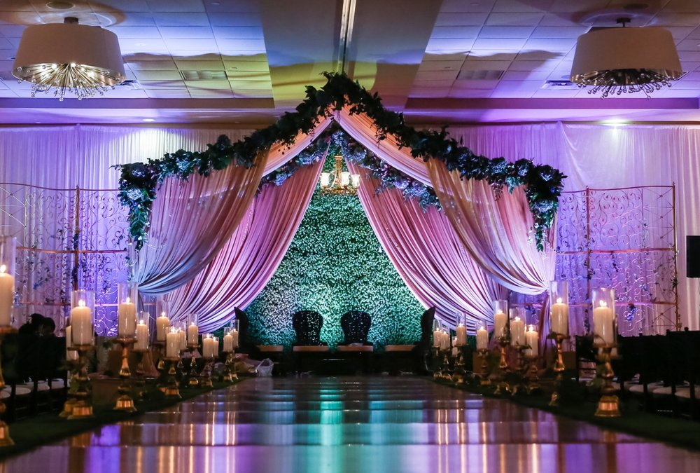 Custom Mandap with specialized uplighting