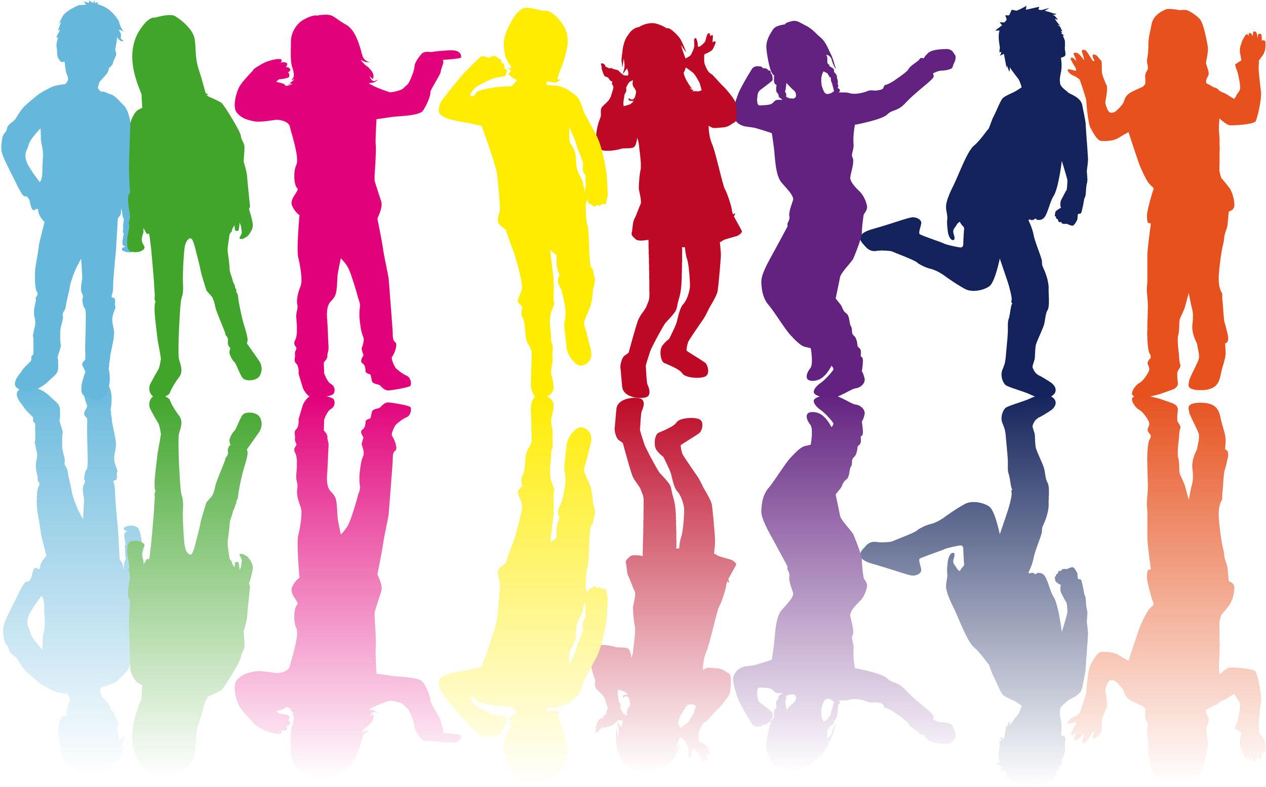Цветные люди картинка
