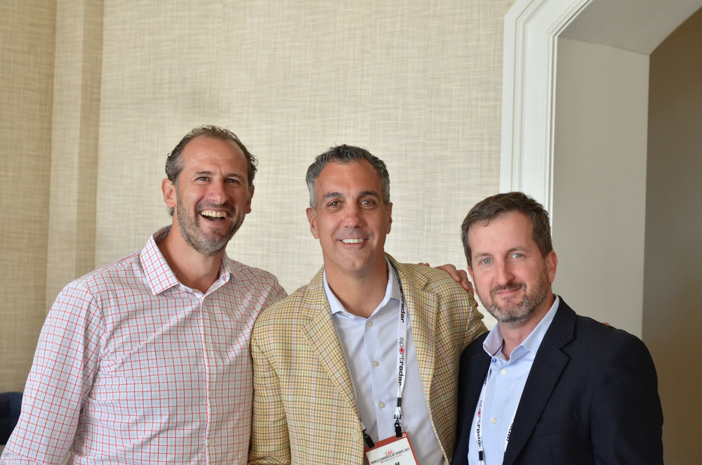 Bob Reif, Adam Jacobs  (CMO) Haas F1 Team &  Jeff Fernandez  (VP, Business Development) New York Jets