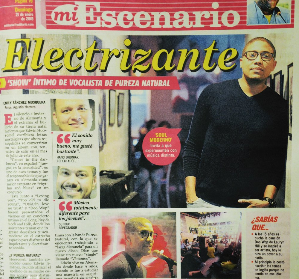 Edwin Hosoomel - Mi Escenario - Cover Page