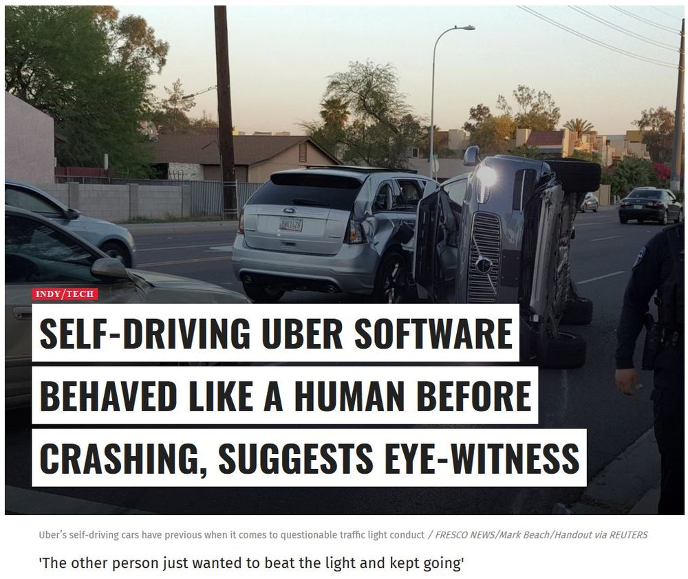 When you end up sitting behind the wheel of an autonomous car thats just crashed who will you see being at fault? You? The car manufacturer or the software developer?