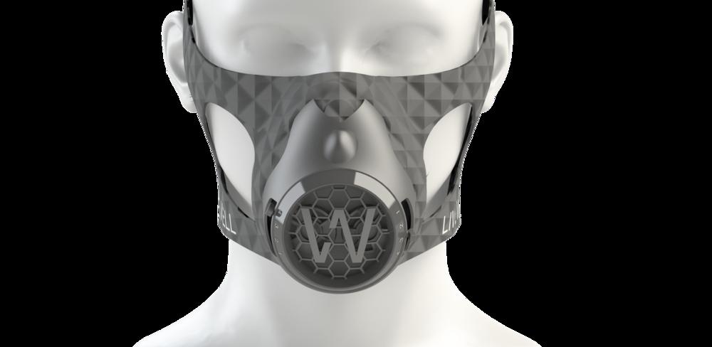 Mask render front elevation