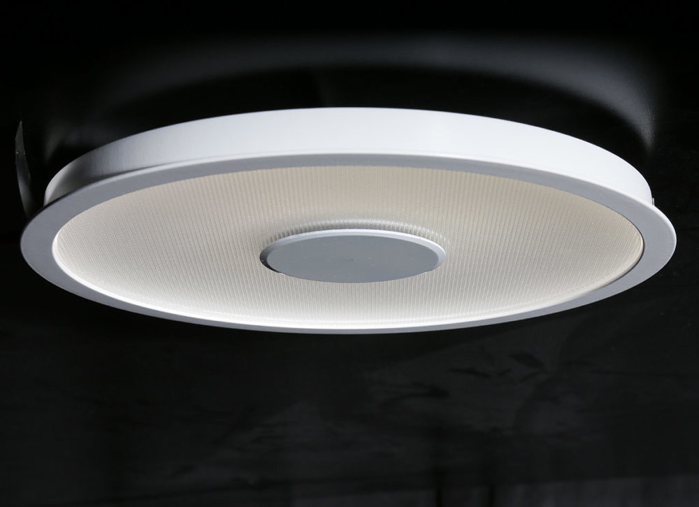 A super shallow low-glare LED downlight using Jungbecker LCP technology available as a pendant and surface mount