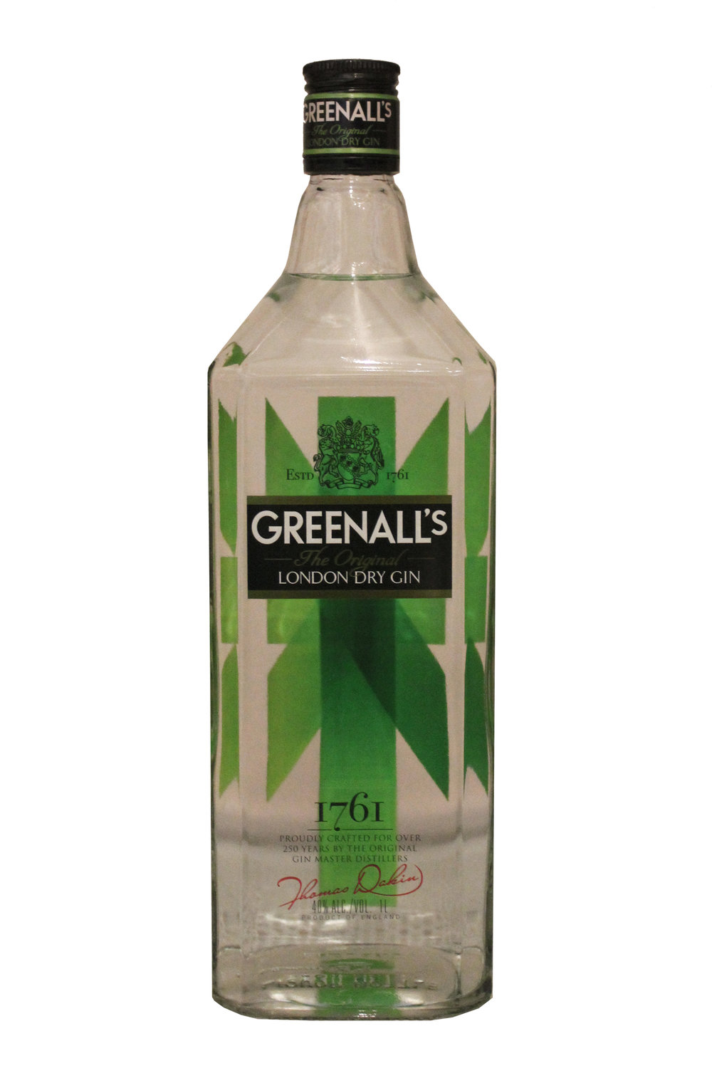 London Dry Gin Greenall's, England