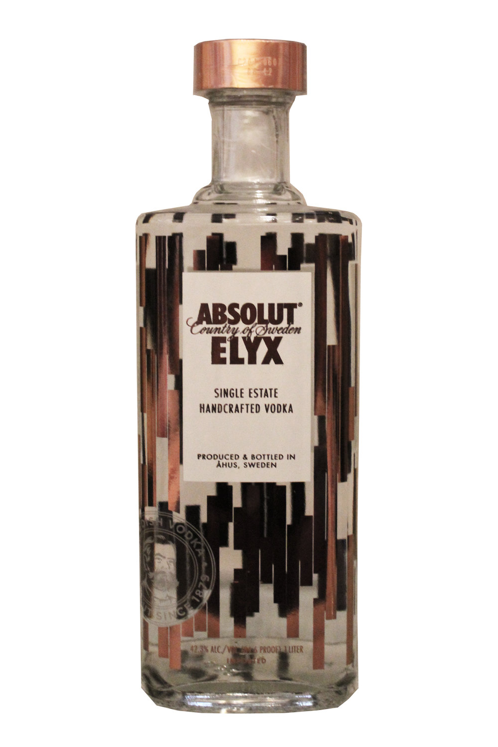 Single Estate Handcrafted Vodka Absolute Elyx, Sweden