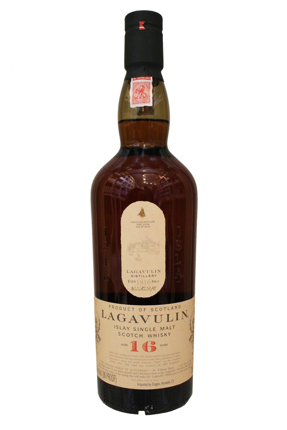 16-Year Single Malt Scotch Whiskey  Lagavulin,  Scotland
