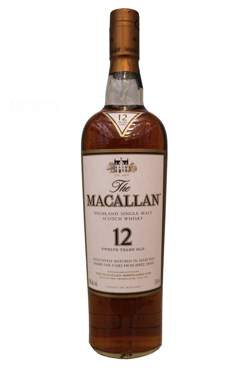 12-Year Single Malt Scotch Whiskey The Macallan, Scotland