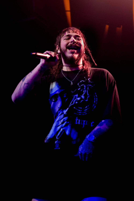 Post Malone performing in Dynamo, Zürich. 2017.