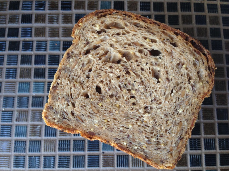Seeded Sandwich Bread Loaf Crumb