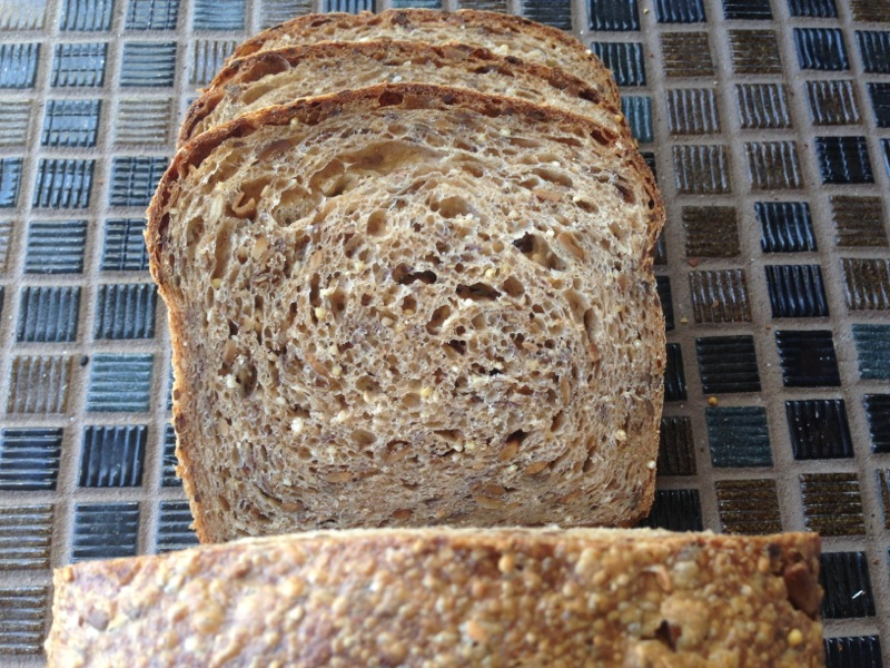 Sliced Seeded Sourdough Sandwich Bread Loaf