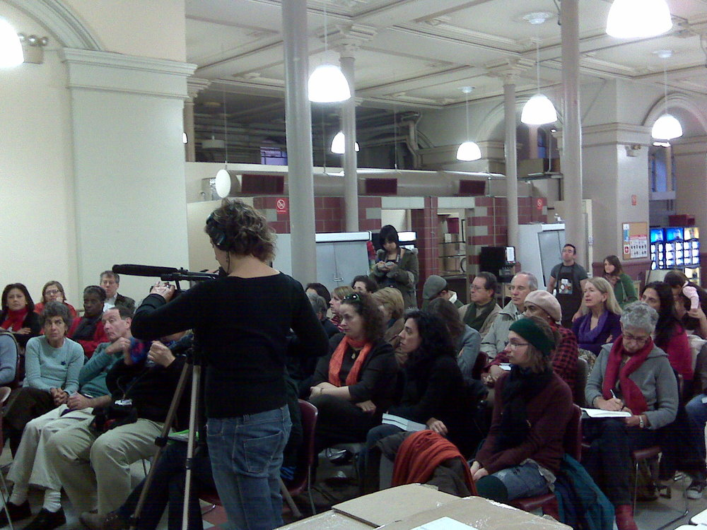 Joel's very first book launch event at NYC's St. Francis Xavier Soup Kitchen - Photo: Adriane Stollenwerck