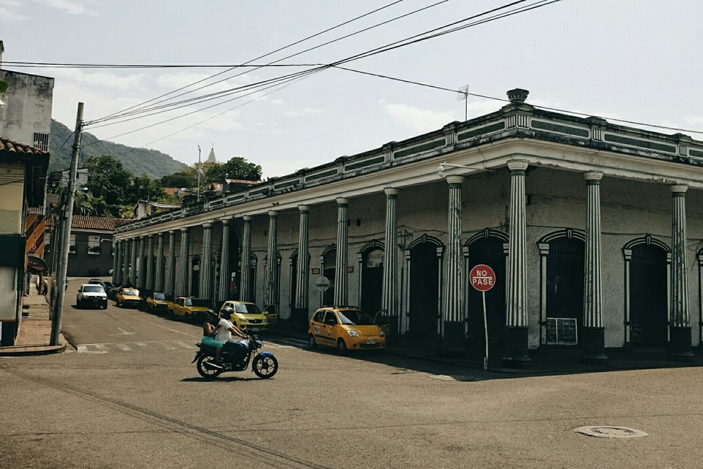 The market place, one of the landmarks in Honda.