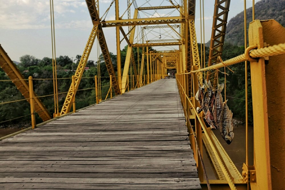 The Navarro bridge, apparently the first steel bridge in South America.