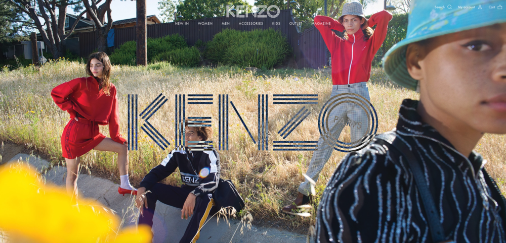 Kenzo F/W Campaign 2018  Hair & Makeup   Photographed by: Robert Kulisek