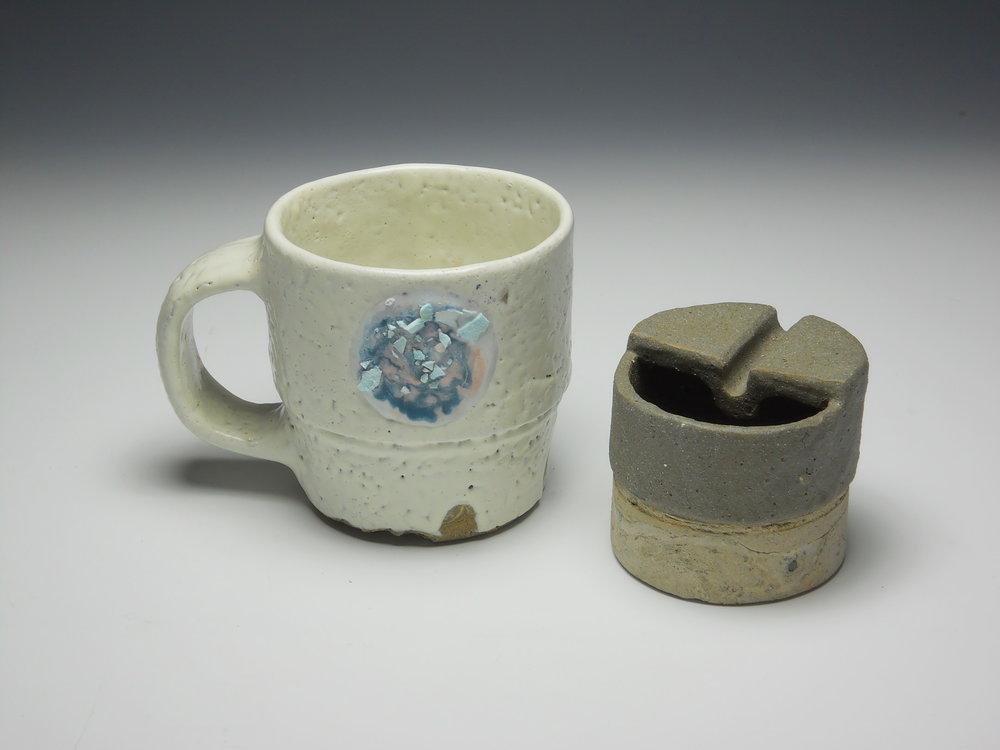 Commemorative Sludge Mug and Ashtray Set