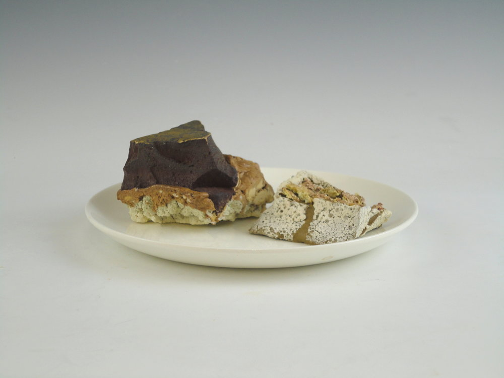 Chocolate Sediment with Melted Custard Stone