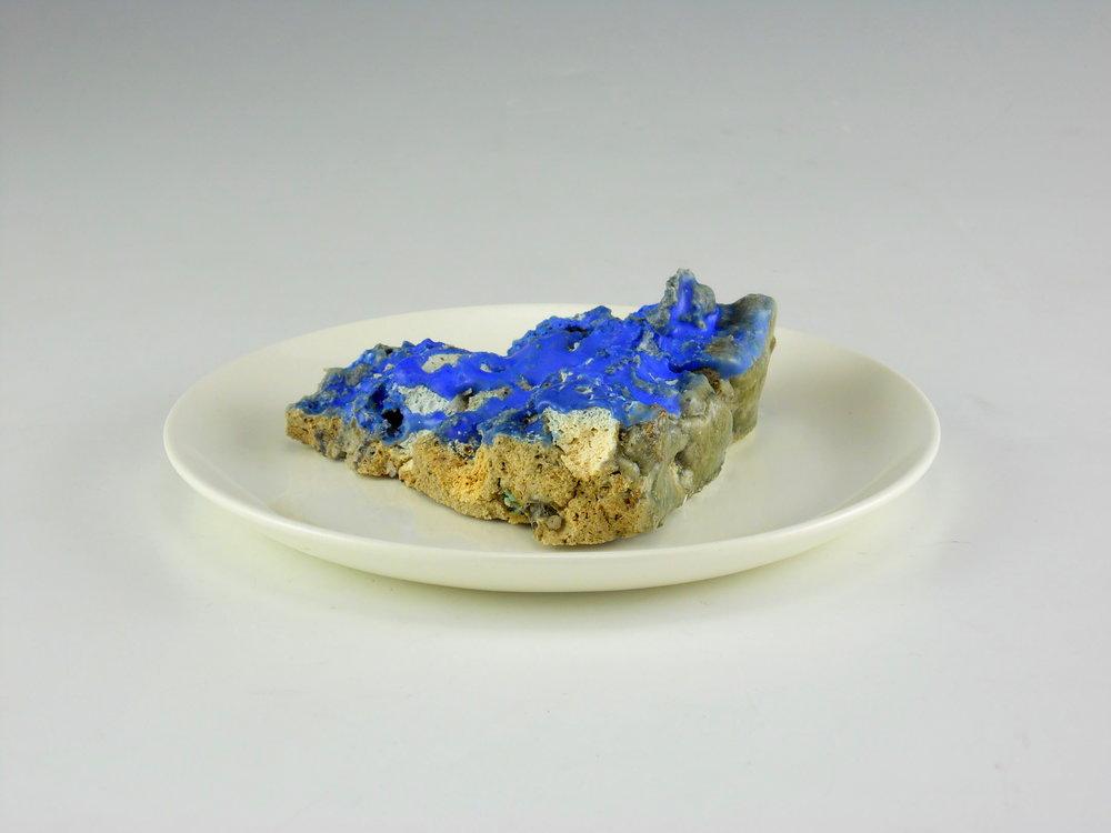 Blue Pie, slice
