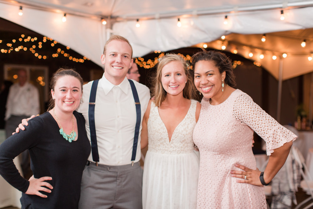 Whenever Angie and I get to work a wedding together, we make sure to get a picture with our couple. It's my FAVORITE little tradition!