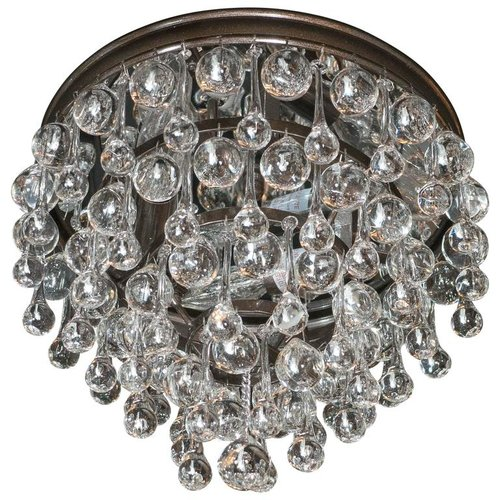 Hollywood teardrop and crystal ball chandelier with chrome and hollywood teardrop and crystal ball chandelier with chrome and handblown glass aloadofball Gallery