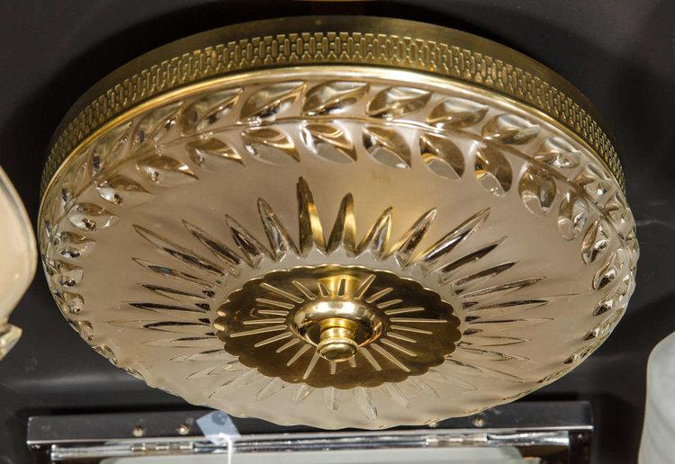 1940s hollywood laurel design flush mount chandelier high style deco 1940s hollywood laurel design flush mount chandelier aloadofball Image collections