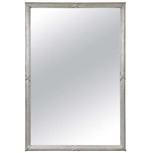 Mid-Century Modernist Mirror with Fluted Frame — High Style Deco