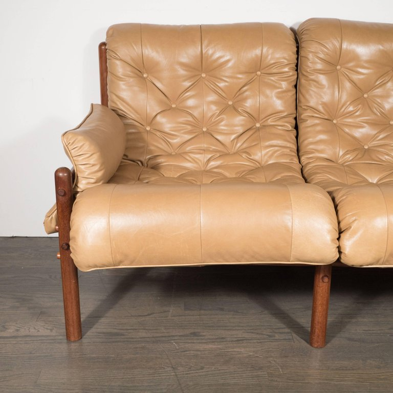 Perfect Inca Safari Lounge Sofa In Butterscotch Leather By Arne Norell