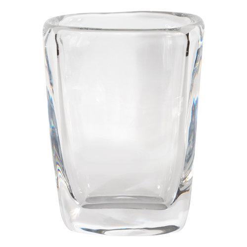 Mid Century Modern Oblong Translucent Glass Vase By Orrefors Of