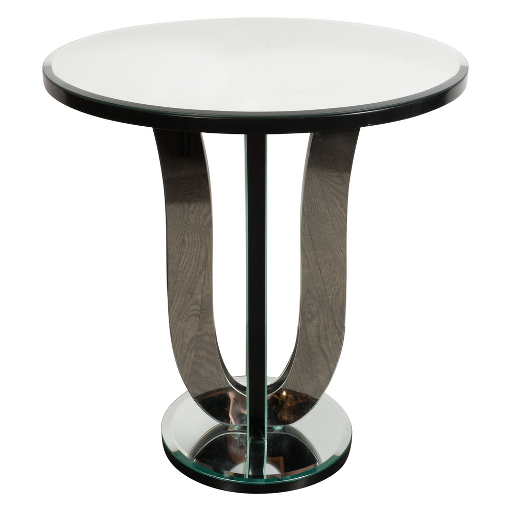 Art Deco Style Urn Form Mirrored Occasional/Side Table