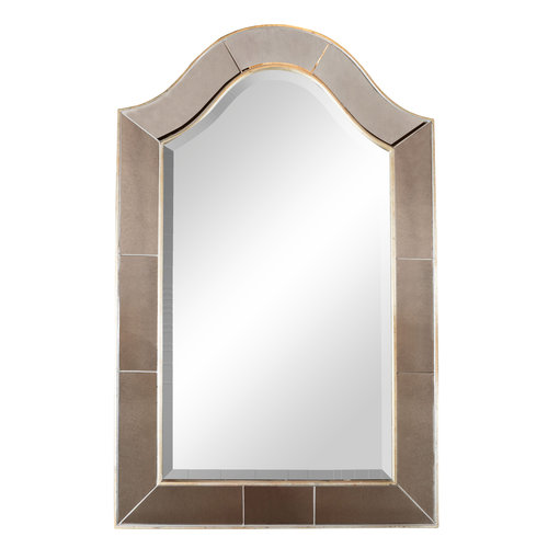 Mid-Century Modern Arch Form White Gilt Frame Beveled and Inset ...