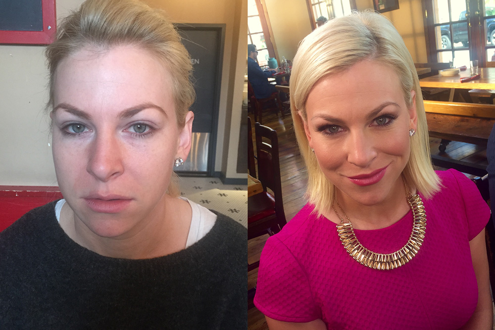 Before and After Custom Makeup by Blende