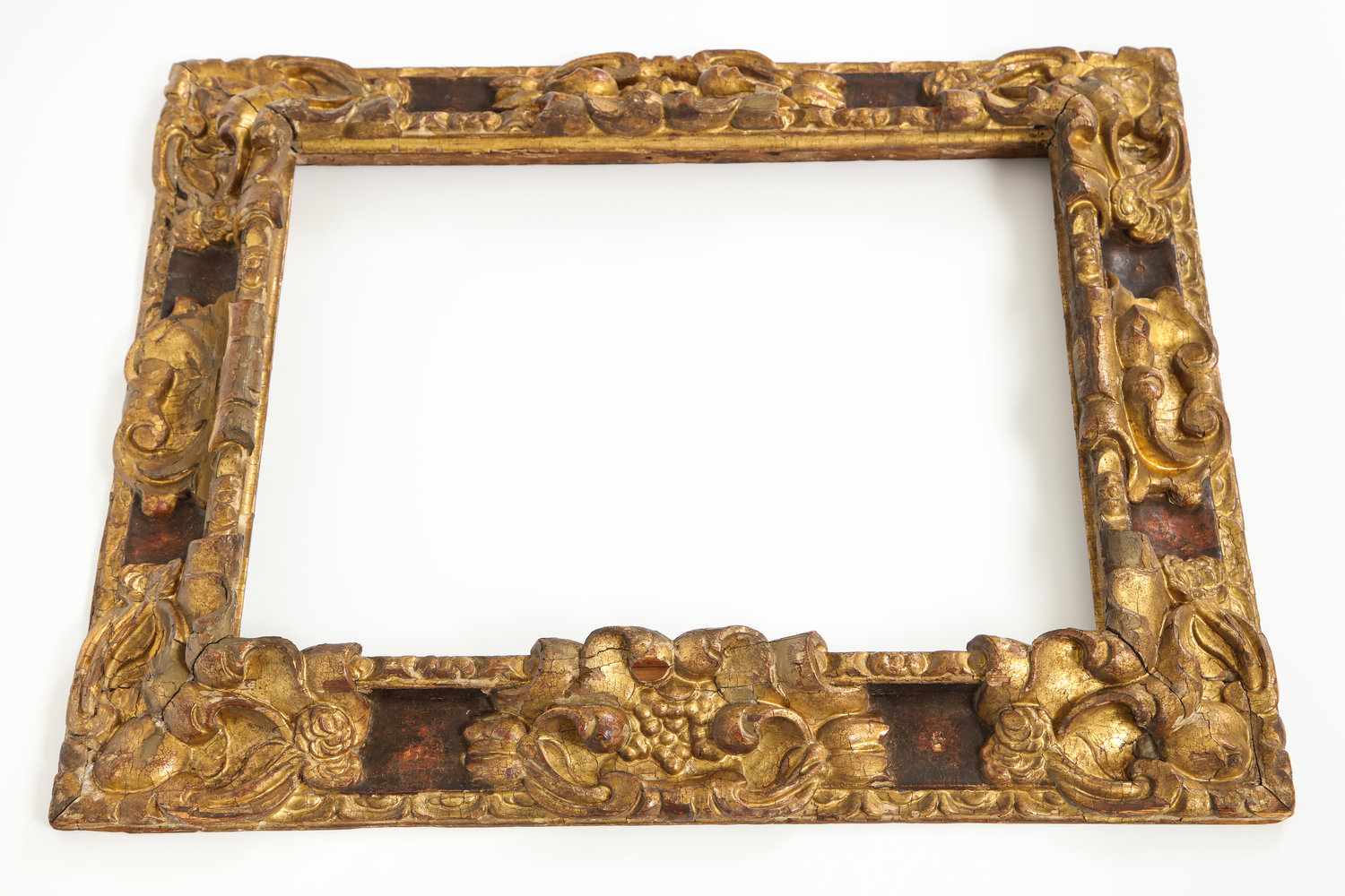 Carved gilt and painted Spanish Baroque frame — Babou