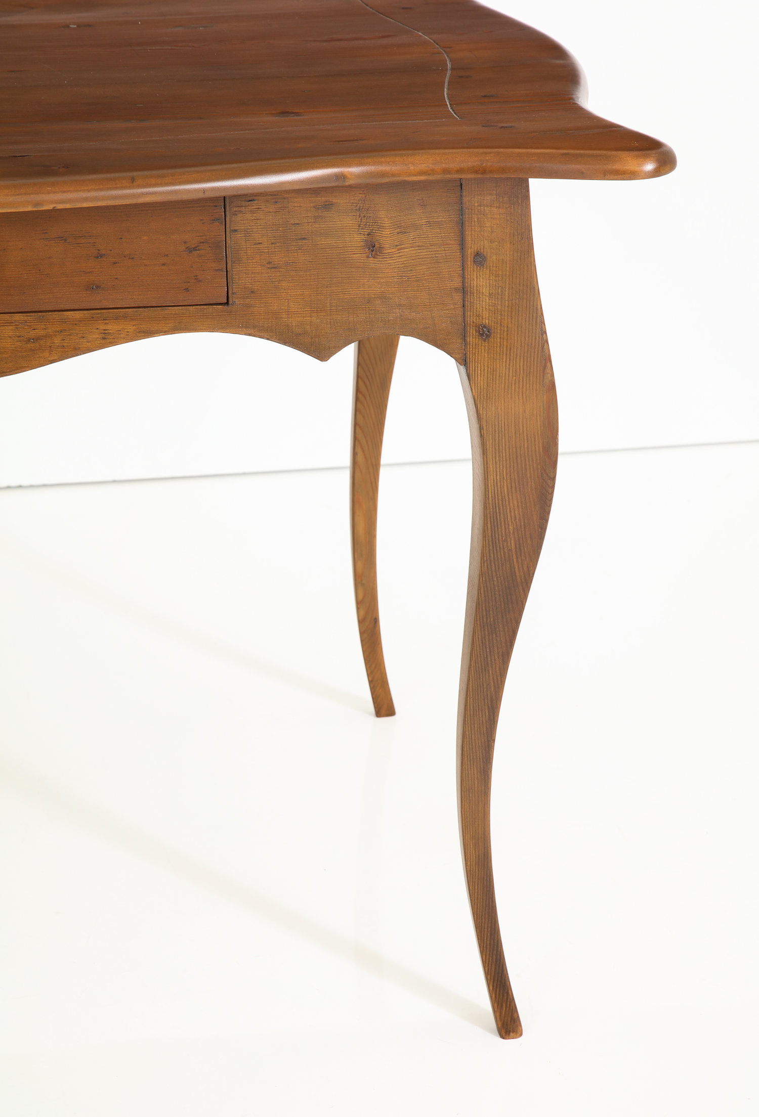 Early 19th century Rococo pine table or desk — Babou
