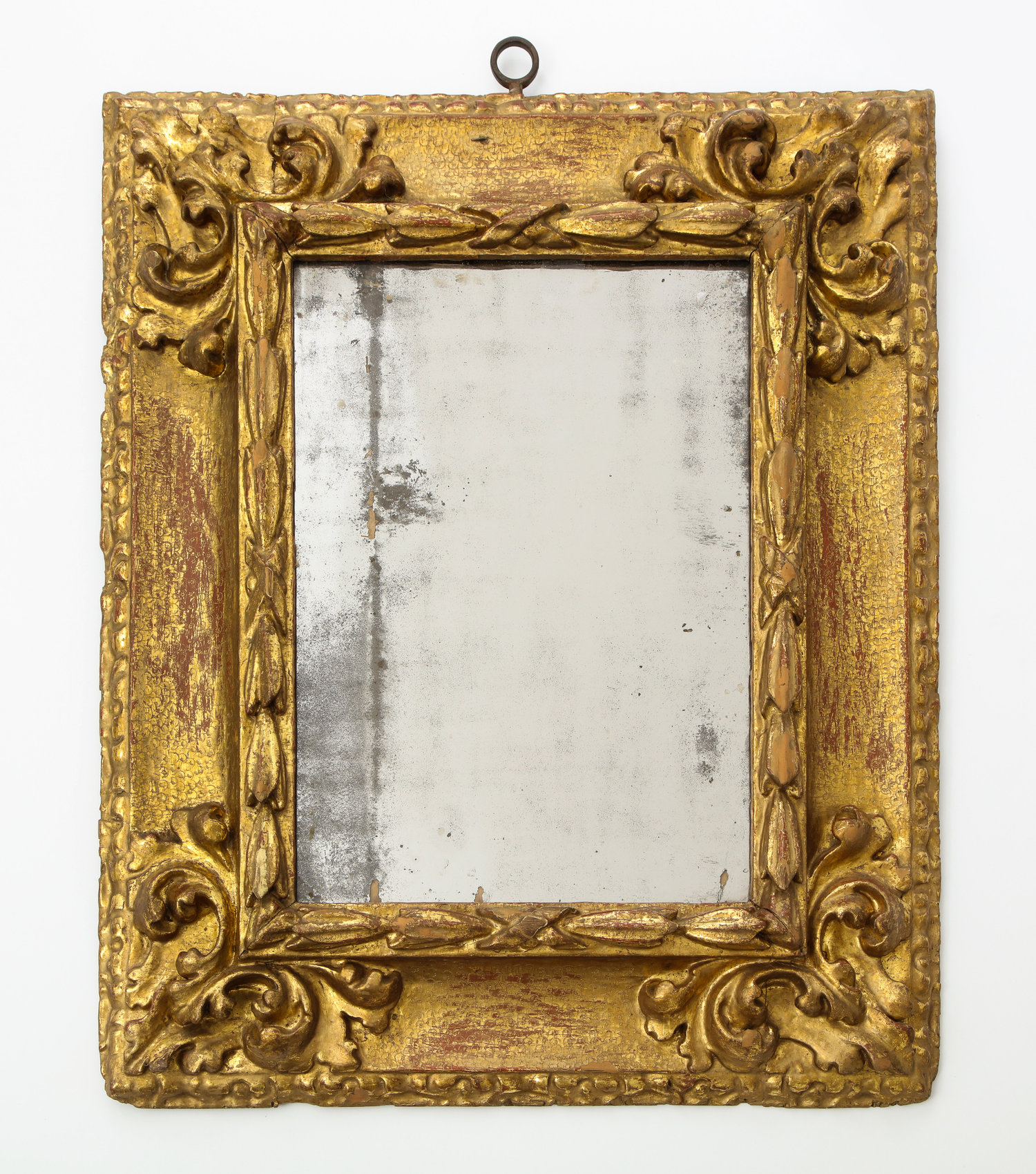 Spanish Baroque carved and gilded reverse profile mirror frame — Babou