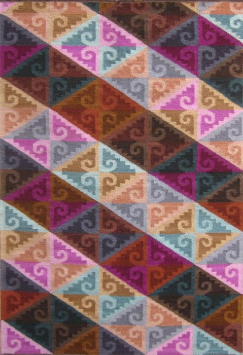 """Wari Colors"", 2′ x 3′ wool weaving by Alfredo Jayo."