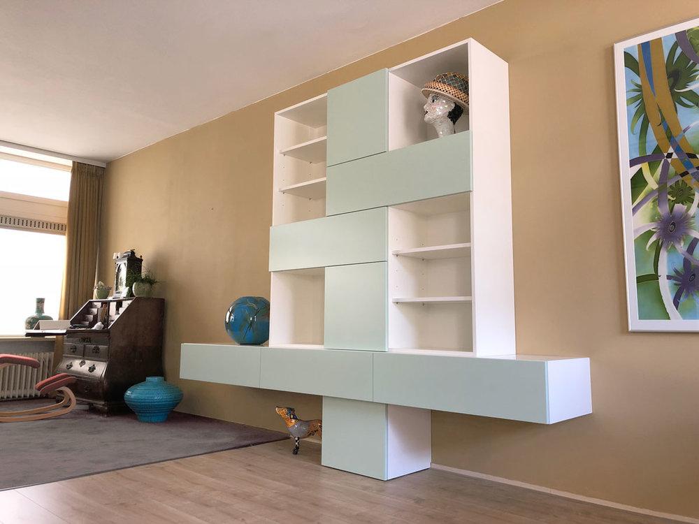 Artistieke wandkast u design meubels op maat